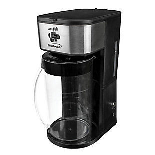Brentwood Iced Tea and Coffee Maker in Black with 64 Ounce Pitcher, , large