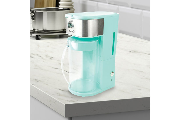 Brentwood Iced Tea and Coffee Maker and 64 Ounce Pitcher, Blue, large