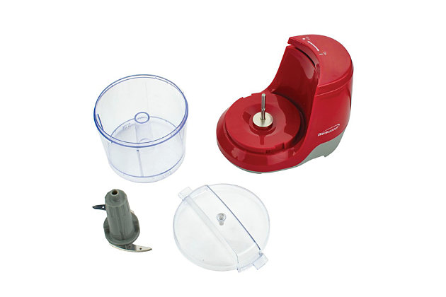 Brentwood 1.5 Cup Mini Food Chopper, Red, large
