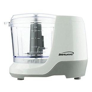 Brentwood 1.5 Cup Mini Food Chopper in White, , large