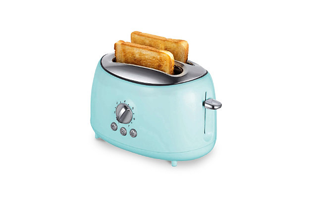 Brentwood Two Slice Extra Wide Slot Retro Toaster, Blue, large