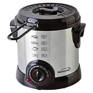 Brentwood 1 Liter Electric Deep Fryer in Stainless Steel, , large