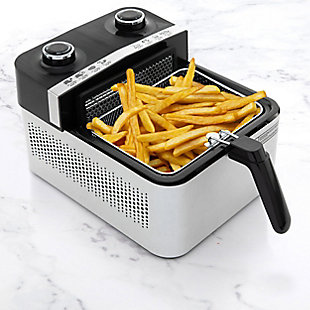 Brentwood Select 3.4 Quart Rapid Electric Air Fryer in Stainless Steel, , rollover