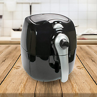 Brentwood 3.7 Quart Electric Air Fryer in Black with Timer and Temperature Control, , rollover
