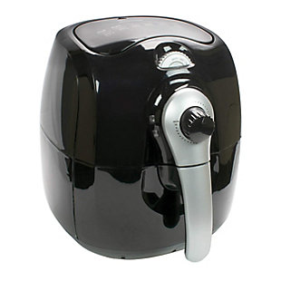 Brentwood 3.7 Quart Electric Air Fryer in Black with Timer and Temperature Control, , large