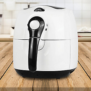 Brentwood 3.7 Quart Electric Air Fryer in White with Timer and Temperature Control, , rollover