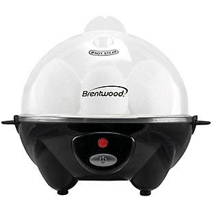 Brentwood Egg Cooker, Black, large