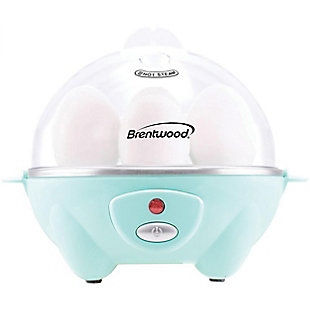 Brentwood Electric 7 Egg Cooker with Auto Shut Off in Blue, , large