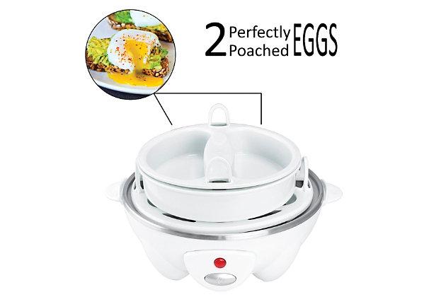 Brentwood Egg Cooker, White, large