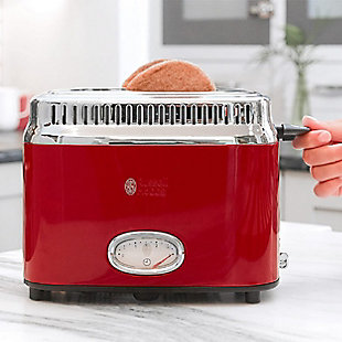 Russell Hobbs Retro Two Slice Toaster, Red, rollover