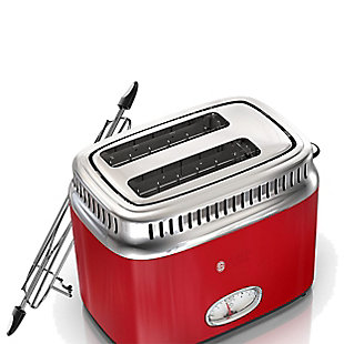 Russell Hobbs Retro Two Slice Toaster, Red, large