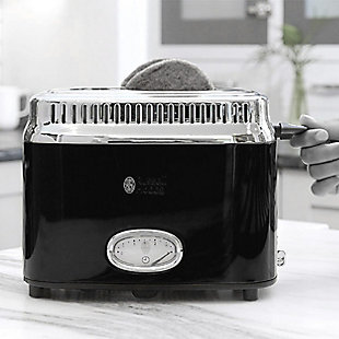 Russell Hobbs Retro Two Slice Toaster, Black, large