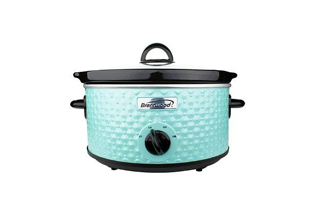 Brentwood 3.5 Quart Slow Cooker, Blue, large