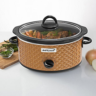 Brentwood 3.5 Quart Slow Cooker, Copper, rollover