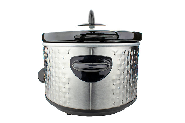 Brentwood 3.5 Quart Slow Cooker, Silver, large