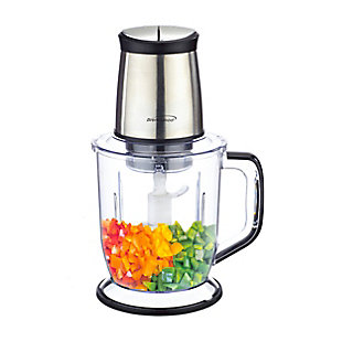 Brentwood 300 Watt 4 Blade 6.5 Cups Food Processor in Stainless Steel, , large