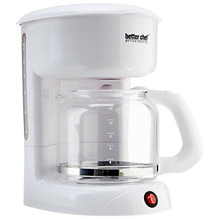 Better Chef 12 Cup White Coffeemaker, , large