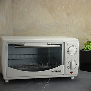 Better Chef Toaster Oven and Broiler, White, rollover