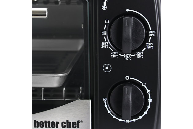 Better Chef Toaster Oven and Broiler, Black, large