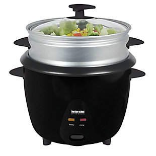 Better Chef 5 Cup Rice Cooker and Food Steamer, , large