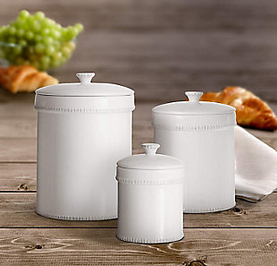 AMERICAN ATELIER Bianca Dash White Canister (Set of 3), , rollover