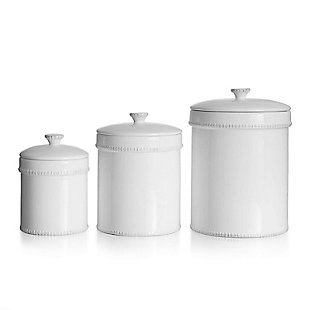 AMERICAN ATELIER Bianca Dash White Canister (Set of 3), , large