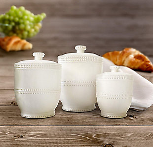 AMERICAN ATELIER Bianca Bead Canister (Set of 3), , rollover
