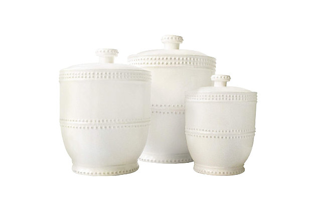 AMERICAN ATELIER Bianca Bead Canister (Set of 3), , large