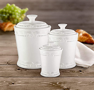 AMERICAN ATELIER Victoria White Canister (Set of 3), , rollover