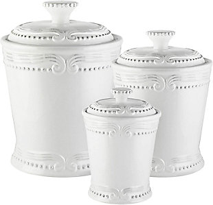 AMERICAN ATELIER Victoria White Canister (Set of 3), , large