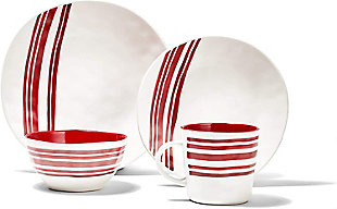 AMERICAN ATELIER Bistro Red Dinner Set, Red, large