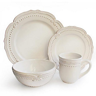 AMERICAN ATELIER Victoria White 16-Piece Dinner Set, , large