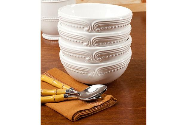 AMERICAN ATELIER Victoria White 16-Piece Dinner Set, , large