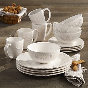 AMERICAN ATELIER Bianca Laurel 16-Piece Dinner Set, , rollover