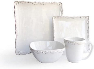 AMERICAN ATELIER Bianca Wave White 16-Piece Dinner Set, , large