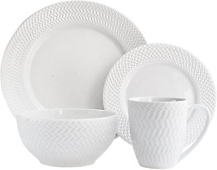 ELLE Bridgette Porcelain 16-Piece Dinner Set, , large