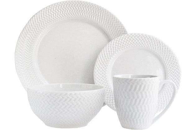 ELLE Bridgette Porcelain 16-Piece Dinner Set, , large