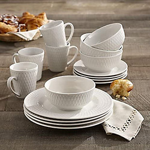 ELLE Juliette Porcelain 16-Piece Dinner Set, , rollover