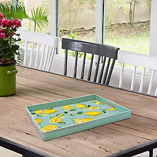 Lemons Decorative Rectangle Tray, , rollover