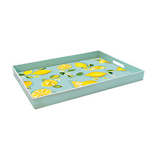 Lemons Decorative Rectangle Tray, , large