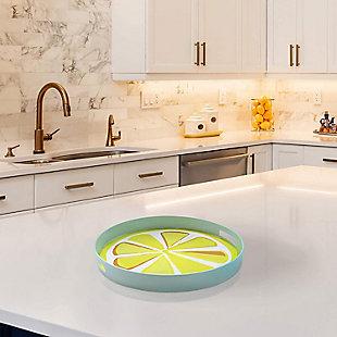 Lemon Decorative Circle Tray, , rollover