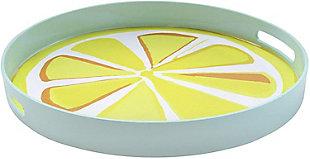 Lemon Decorative Circle Tray, , large