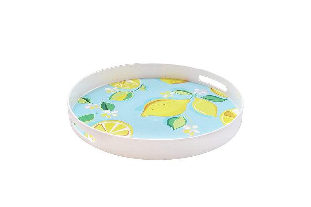 Lemons Decorative Circle Tray, , large