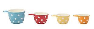 Creative Co-Op Polka Dot Ceramic Measuring Cups (Set of 4 Sizes), , large