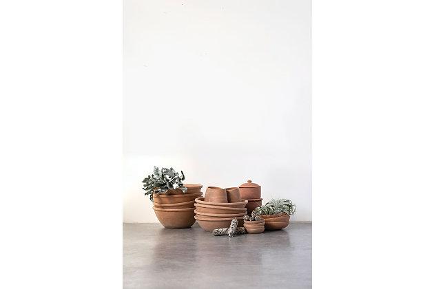 Creative Co-Op Small Orange Terracotta Bowl, , large