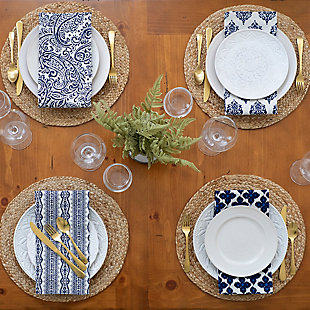Elrene Home Fashions Everyday Casual Braided Jute Round Placemat - Set of 4, , rollover