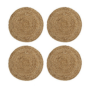 Elrene Home Fashions Everyday Casual Braided Jute Round Placemat - Set of 4, , large