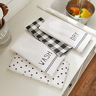 Elrene Home Fashions Farmhouse Living Sentiments Kitchen Towels - Set of 4, , rollover