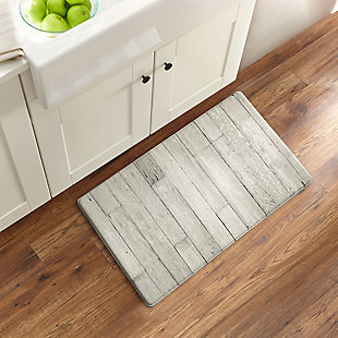 """Elrene Home Fashions Farmhouse Living Faux Wood Grain Rustic Comfort Anti Fatigue Kitchen Mat, 18"""" x 30"""", Natural Gray, , rollover"""