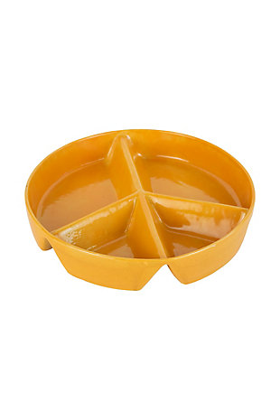 Kalalou Ceramic Peace Sign Chip and Dip Tray, , large
